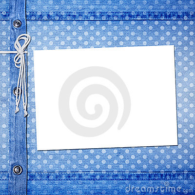 Abstract blue jeans background with rivet