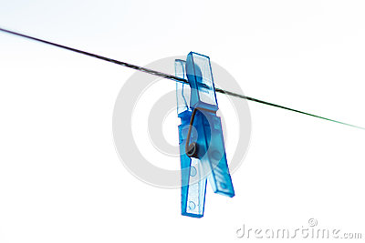 Abstract blue laundry pin
