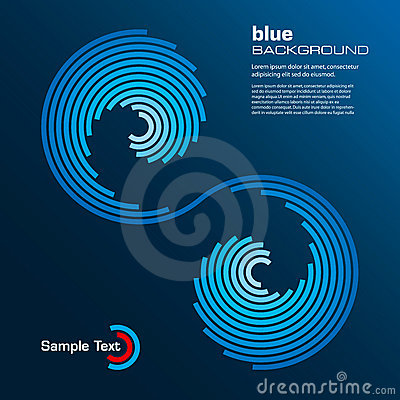 Free Abstract Blue Layout. Vector. Royalty Free Stock Photography - 11736417