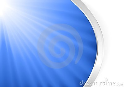 Abstract blue light burst with silver