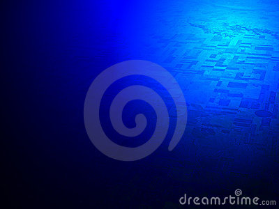 Abstract blue light over desert, science,