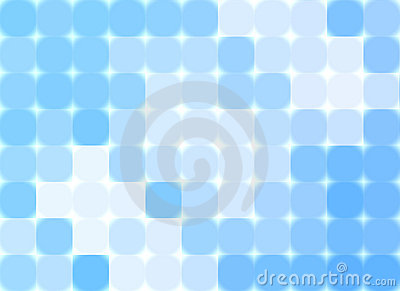 Abstract blue mosaic