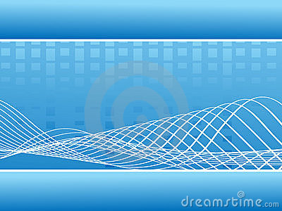 Abstract blue music wavy lines - vector