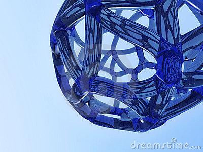 Abstract blue network