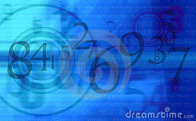 Abstract Blue numbers background