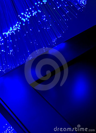 Abstract blue optic fibre background