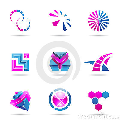 Abstract blue and purple Icon Set 21