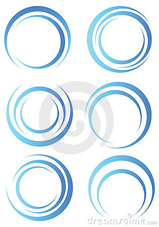 Free Abstract Blue Shapes Royalty Free Stock Images - 18271949