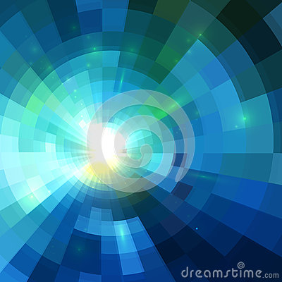 Free Abstract Blue Shining Tunnel Background Royalty Free Stock Photos - 36528128