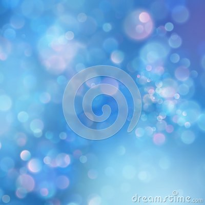 Abstract blue sky background with blur bokeh light effect. EPS 10 Vector Illustration