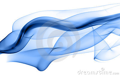 Abstract blue smoke