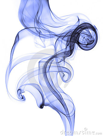 Free Abstract Blue Smoke On White Background Royalty Free Stock Photography - 13555877