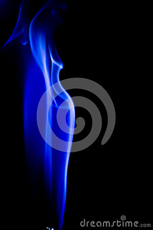 Free Abstract Blue Smoke Swirls Over Black Background Royalty Free Stock Photos - 55295028