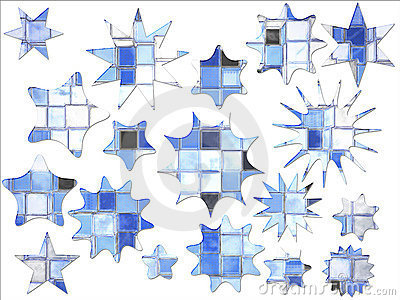 Abstract Blue Square Star Shaped Special Offer
