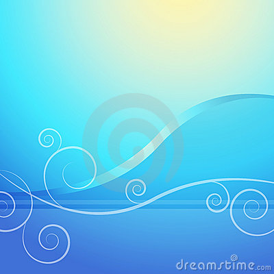 Abstract Blue Sunrise Background