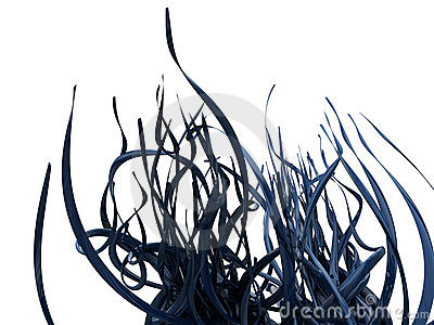 Abstract Blue Vines