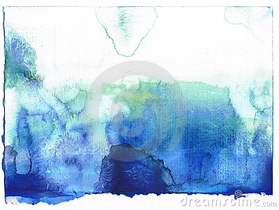 Abstract blue watercolor background. SELF MADE.