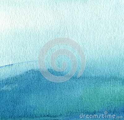 Free Abstract Blue Watercolor Painted Background. Royalty Free Stock Image - 45763016