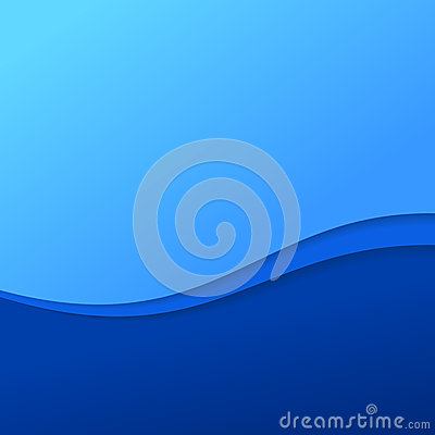 Abstract blue wave background with stripes
