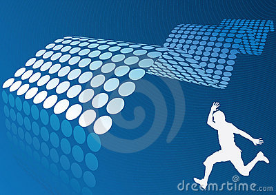 abstract blue wave design