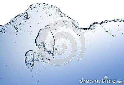 Abstract blue wave splash background