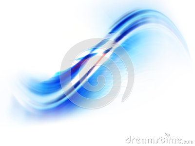 Abstract blue wave