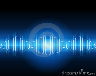 Abstract blue waveform