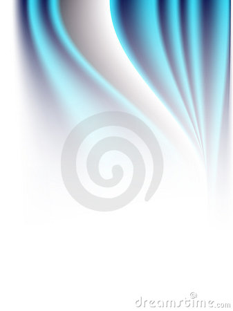 Abstract Blue Waves Vector Bakcground