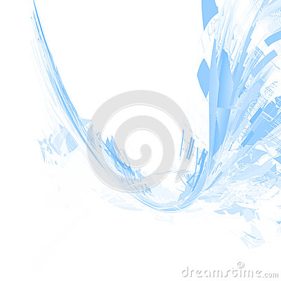 Free Abstract Blue Wavy Background Stock Images - 44382664