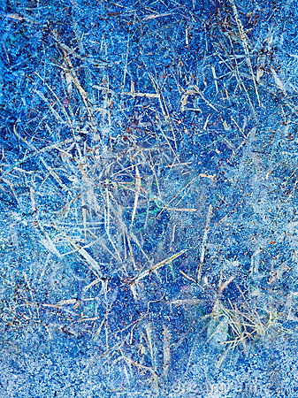 Abstract blue winter ice  background