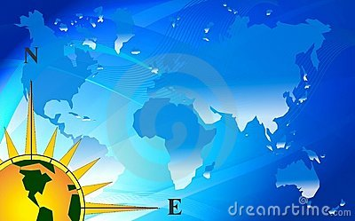 Abstract blue world map