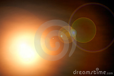 Abstract blur star shine on dark night background