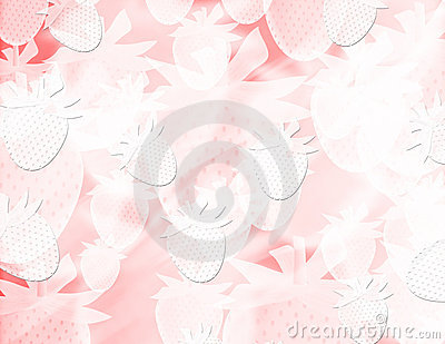 Abstract blur strawberries background