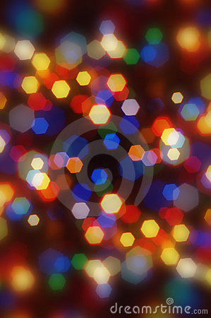 Abstract blurred colorful Christmas bokeh.