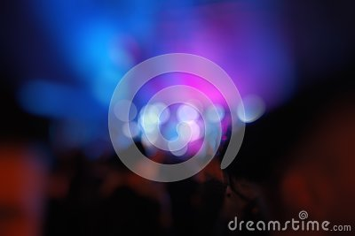 Abstract blurry background with defocused bokeh light elements Stock Photo