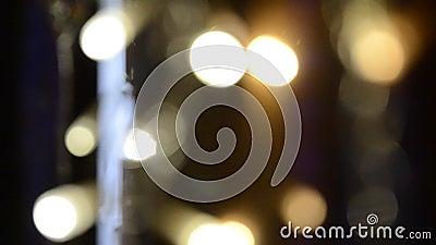 Abstract blurry sem foco luzes multicoloridas piscando filme