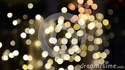 Abstract blurry sem foco luzes multicoloridas piscando video estoque