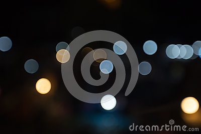 Abstract bokeh background, bokeh party in night, night city street lights bokeh background, night city background, abstract circul Stock Photo