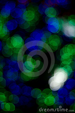 Abstract bokeh circles on a colorful background