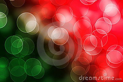 Abstract bokeh green red shiny background