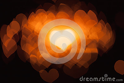 Abstract bokeh hearts