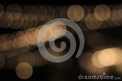 Abstract bokeh led lightings blurred on black background Stock Photo