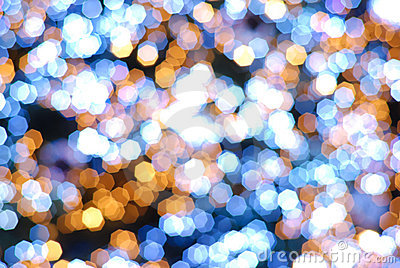 Abstract Bokeh light blur background
