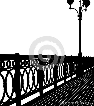 Abstract bridge silhouette