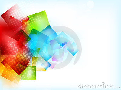 Abstract bright background with squares