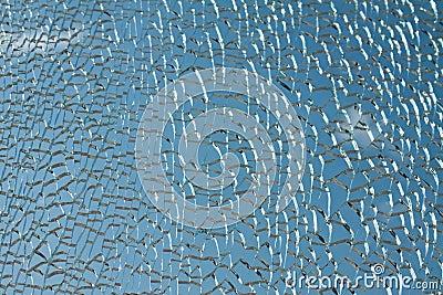 Abstract broken glass.