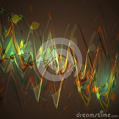 Abstract brown wave background