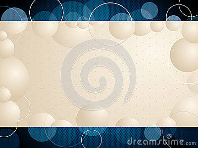 Abstract bubble background design