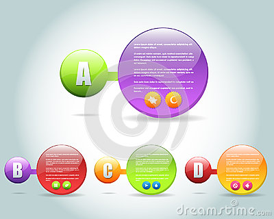 Abstract Bubble Numbered Banner Vector Design