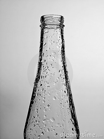 Abstract Bubbles on Beer Bottle